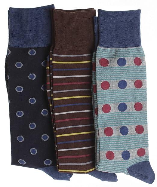 Soxmile Big y Fashion Crew - Calcetines altos para hombre, diseño de lunares, dot-stripe, diseño de rayas: Amazon.es: Ropa y accesorios