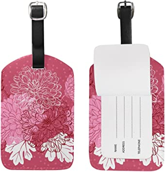 Travel Luggage Tag With Wash-Ington Suitcase Tag Accessories Travel Bag Labels Fashion Travel Id Label Pvc With Full Privacy Cover Size 2.8x4.5 Inches