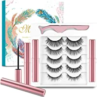 5 Pairs Magnetic Eyelashes and Magnetic Eyeliner Set,Waterproof Magnetic Eyelashes and No Glue,3D Magnetic Lashes Look…
