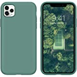 iPhone 11 Pro Max Case, DUEDUE Liquid Silicone Soft Gel Rubber Slim Cover with Microfiber Cloth Lining Cushion Shockproof Ful