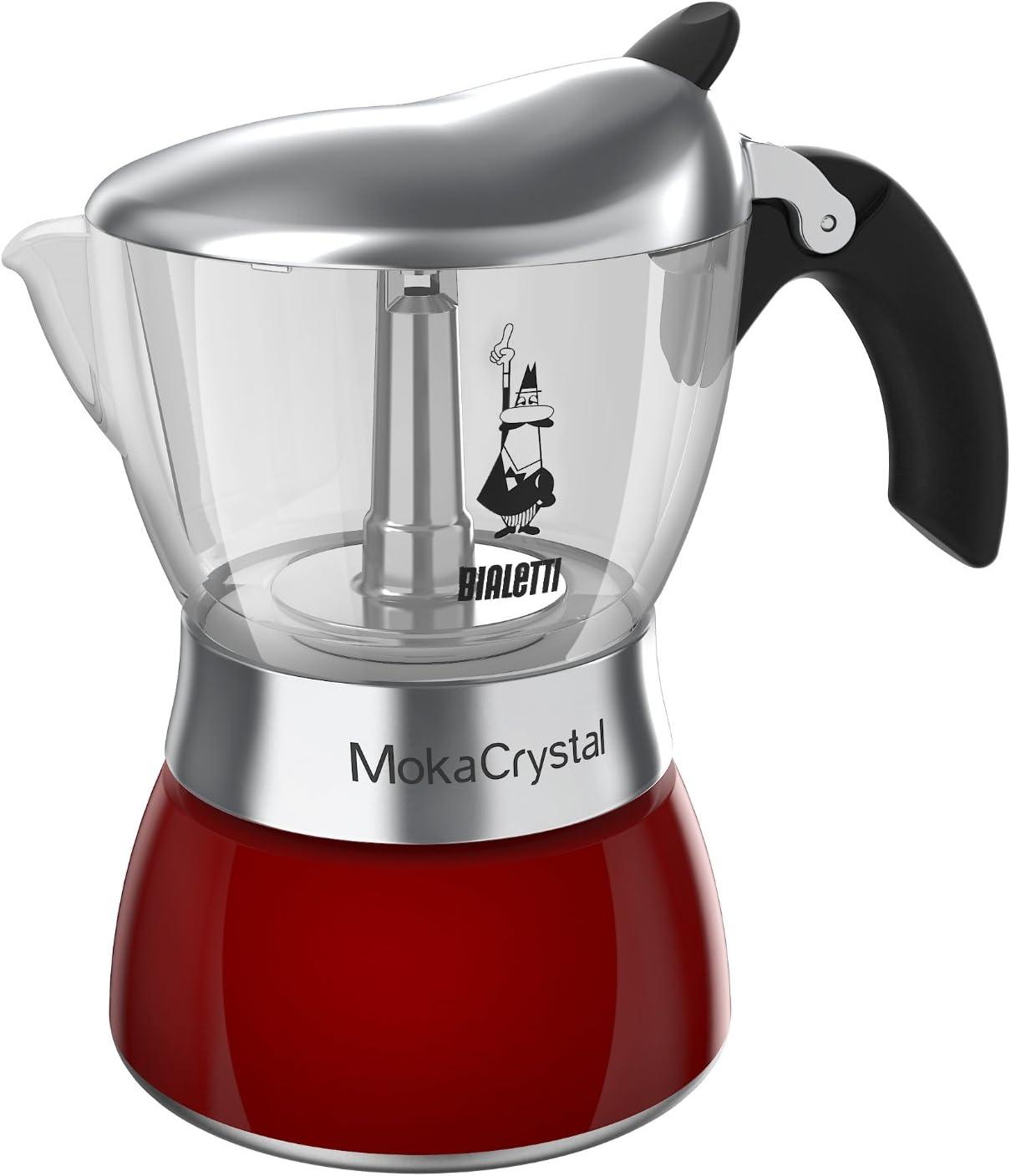 Bialetti Moka de Cristal 0004313 cafetera Italiana para 6 Tazas Rojo: Amazon.es: Hogar