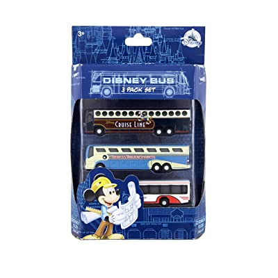 Disney Parks Bus Die Cast Vehicle Magical Express Transport Cruise Set of 3: Toys & Games