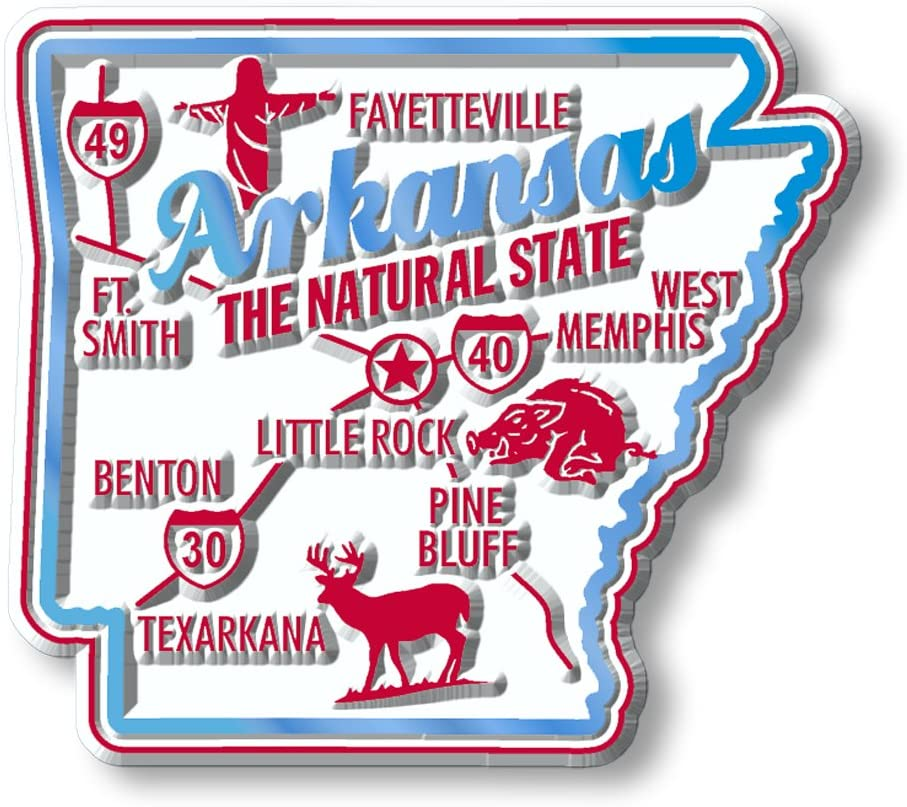 Premium State Map Magnet - Arkansas