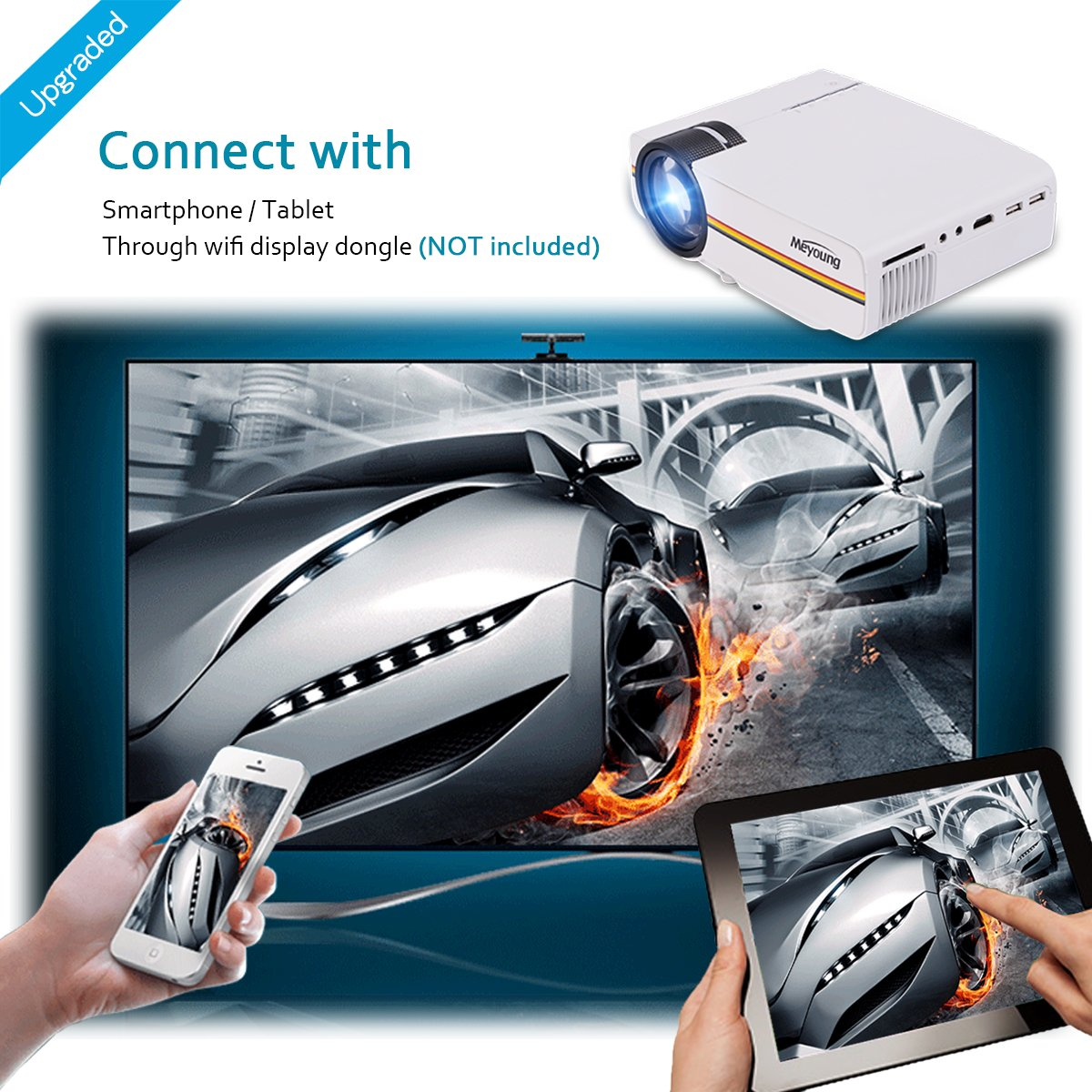 amazon com meyoung tc80 led mini projector home theater lcd hd