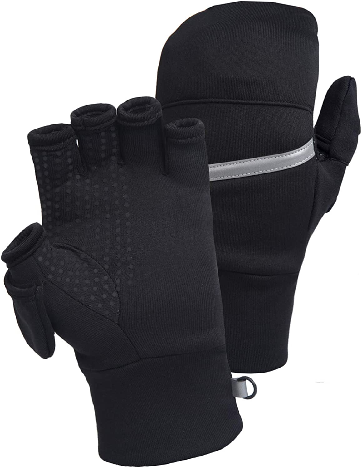 TrailHeads Men's Power Stretch Convertible Mittens   Fingerless Gloves at  Amazon Men's Clothing store
