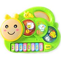 Vivir Farm Flash Drum Caterpillar Piano Toys for Kids (Green, 3 Years)