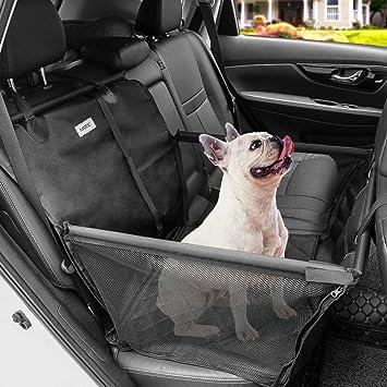 Matcc Hunde Autositz Auto Hundesitz Rückbank Für Kleine Bis Mittlere Hund Mit Hundesicherheitsgurt Autositzbezug Wasserdicht Reißfest Mit Aufbewahrungstasche Hundedecke Für Haustier Reise Haustier