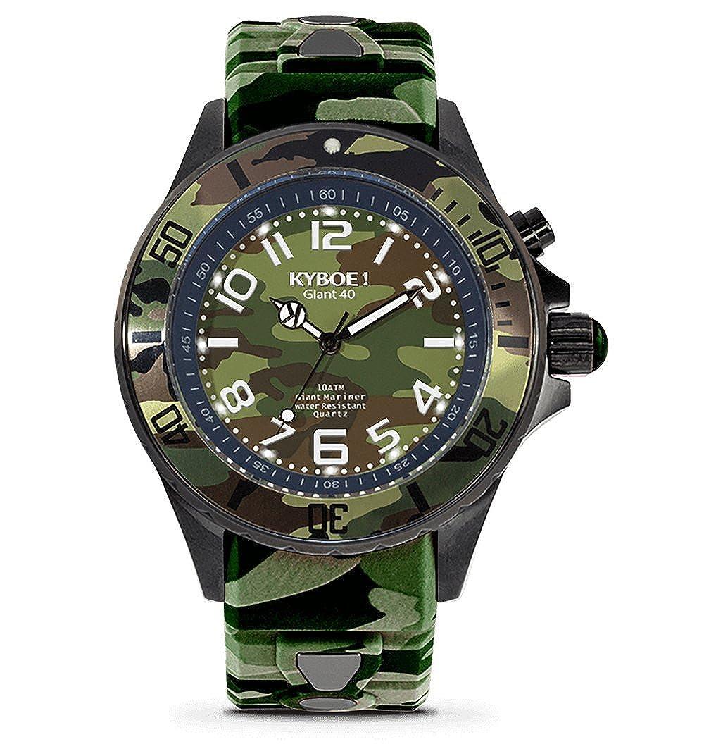 Kyboe. Reloj Analógico para Mujer Quartz silicona verde CS de 40 - 004: Amazon.es: Relojes