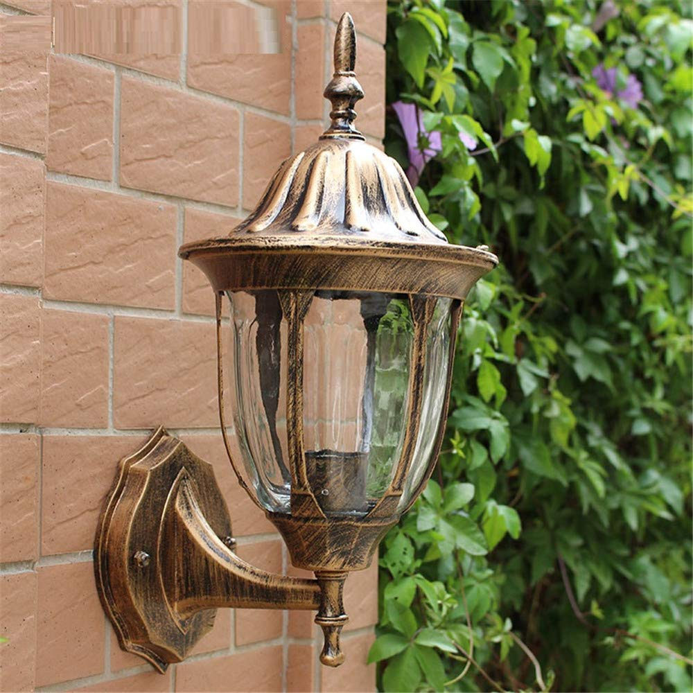 HRCxue Lampade da parete Pastorale antico esterno impermeabile moderno e minimalista lampada da giardino retro lampada da parete  ,  bronzo  44  26.5cm  dimensioni della parete della lampada  10,5  18,5 cm