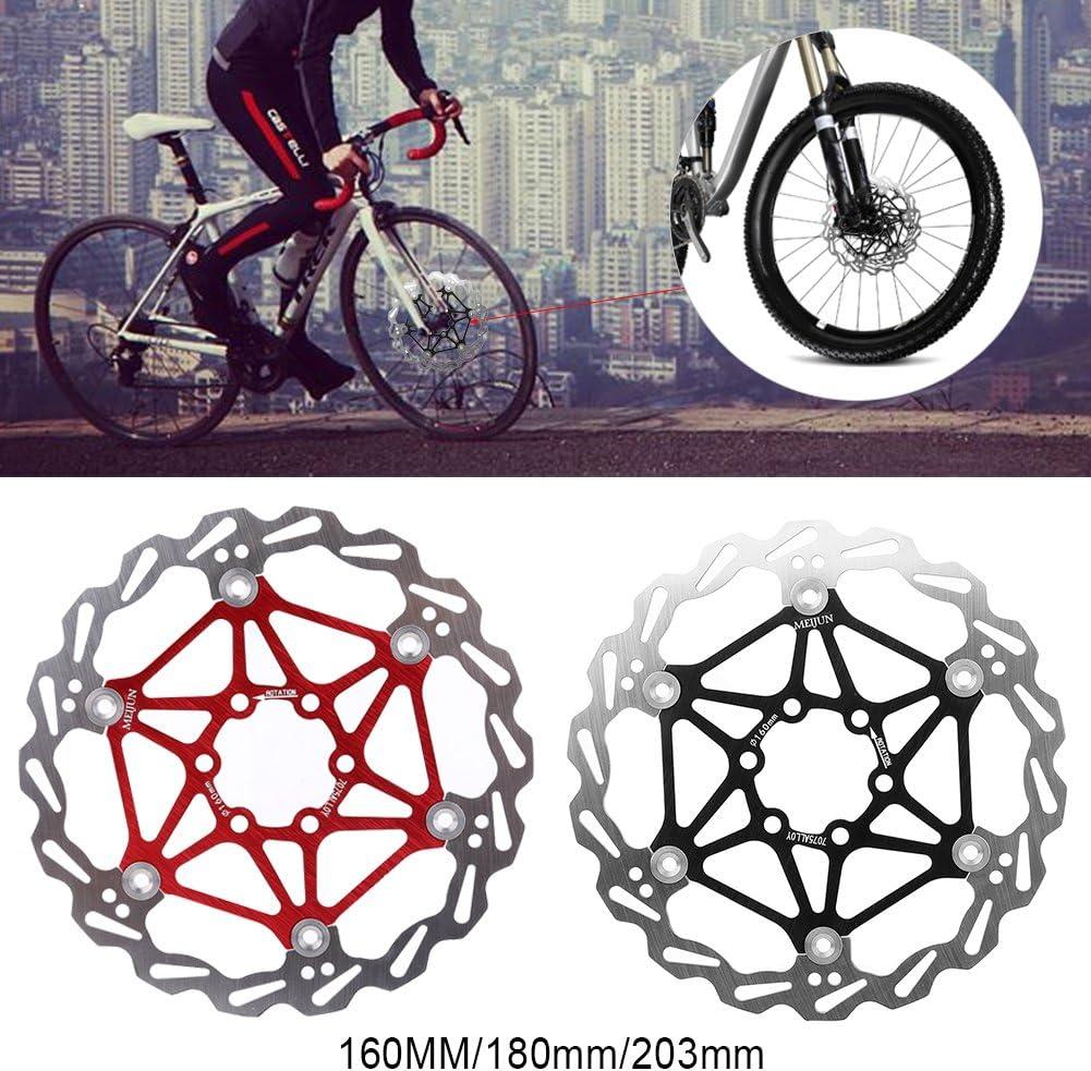 Rotor Flotante 160//180//203mm para Bicicleta de monta/ña VGEBY Rotor de Freno de Disco de Bicicleta con Pernos