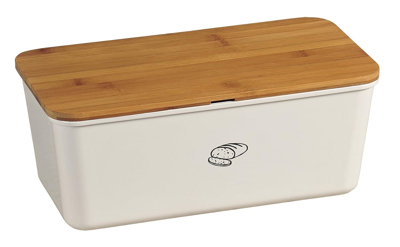 Kesper Brotbox - Panera para Guardar el Pan y para cortarlo (melamina, 340 x 180 x 130 mm)