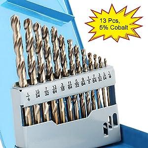 COMOWARE Cobalt Drill Bit Set - Best Drill Bits For Stainless Steel