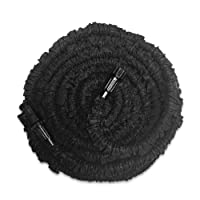 GenLed Expandable Garden Hose, 75ft Strongest Expanding Garden Hose on the Market with Triple Layer Latex Core & Latest Improved Extra Strength Fabric Protection for All Your Watering Needs(Black)
