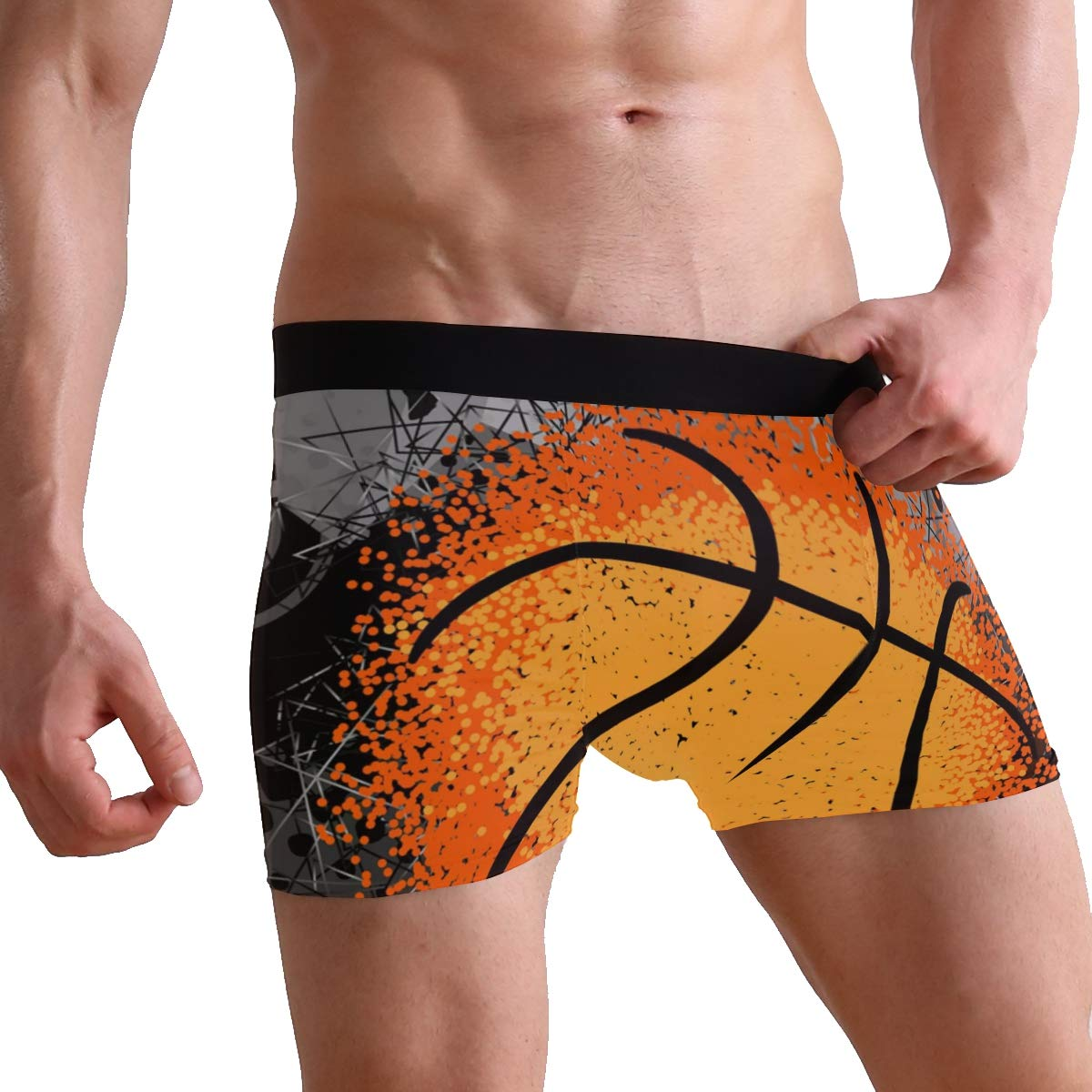 Basketball and Player Boxer Briefs for Men Mens Comfortable Underwear