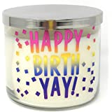 Bath Body Works 3 Wick Conversation Candle Happy BirthYay Midnight Blue Citrus