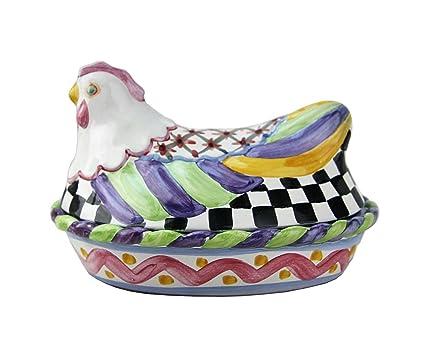Feeding Mackenzie-childs Chicken Plate Bowls & Plates