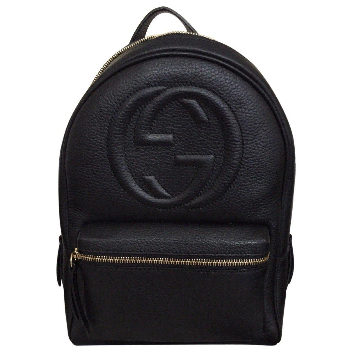 1e3a8bd0de80ef Amazon.com: Gucci Soho Black Backpack Calf Leather Backpack Ladies Bag  Italy New : Shoes