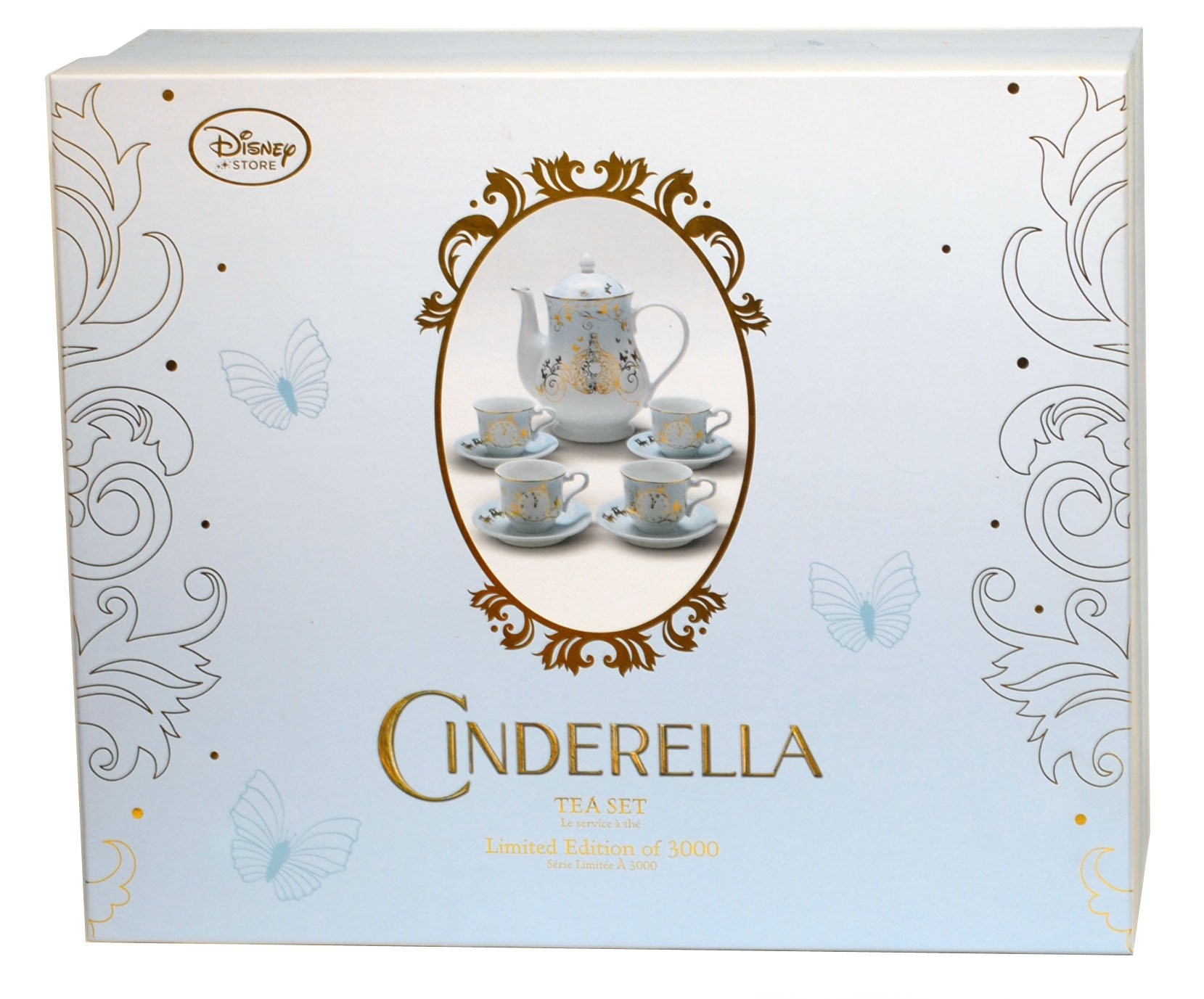Disney Store Cinderella Tea Set Limited Edition 3000 Live Action Movie New