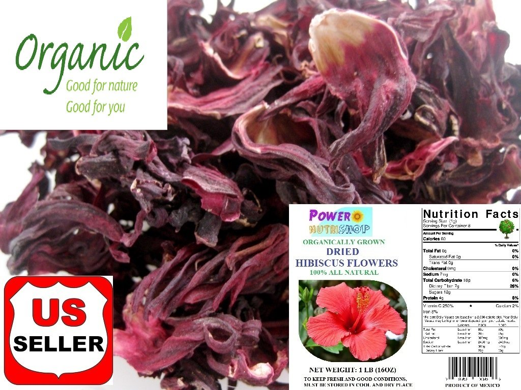 Amazon Grown Organically Premium Dried Hibiscus Tea Hibiscus