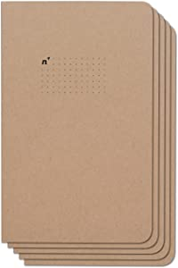 Northbooks USA Eco Dotted Journal Bullet Notebook | 5 Notebooks with Dot Grid Pages | Premium Recycled Thick Paper | 5x8