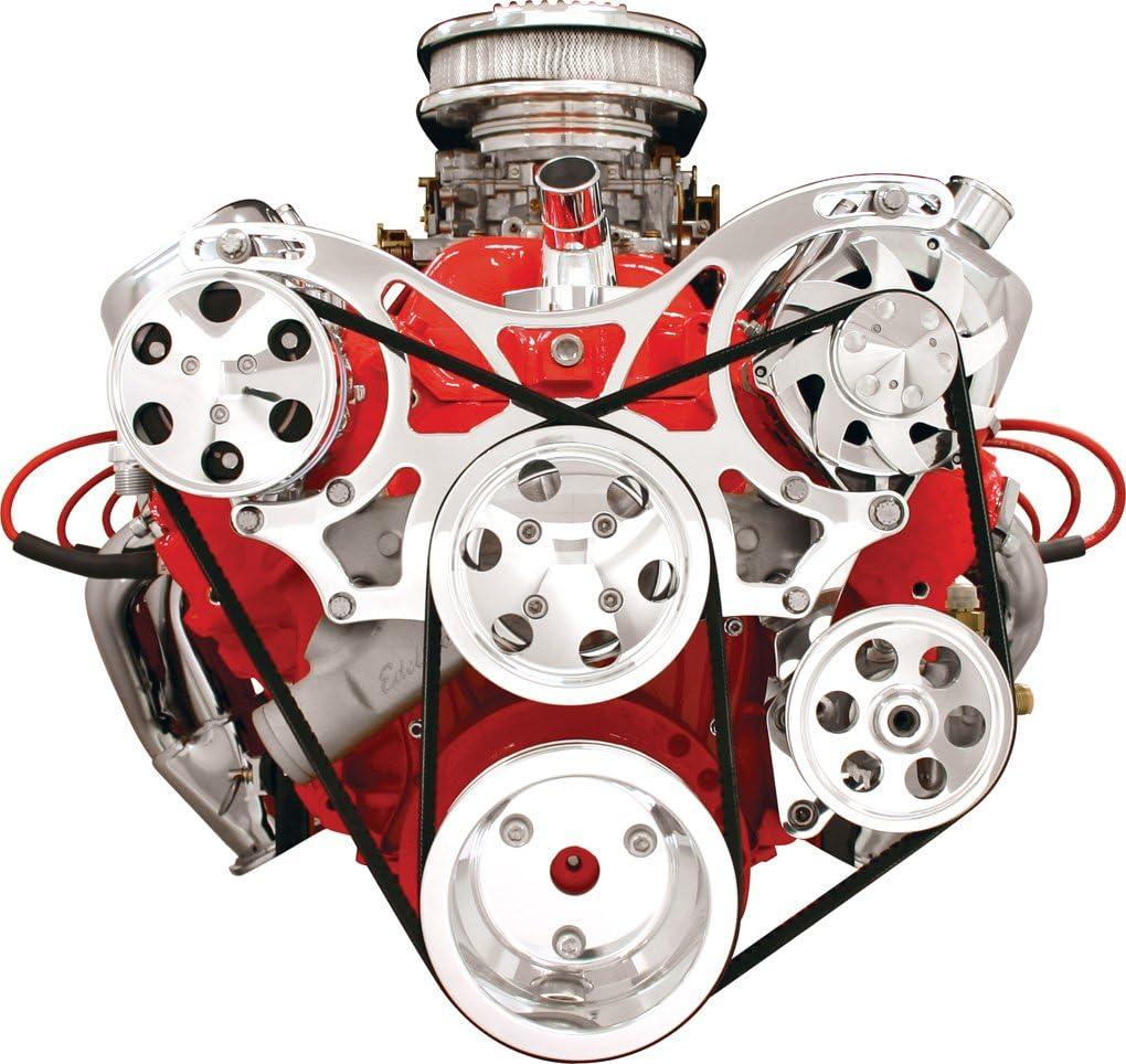 Billet Specialties v-trac BBC frontal Motor Polea Kit w/WP ...