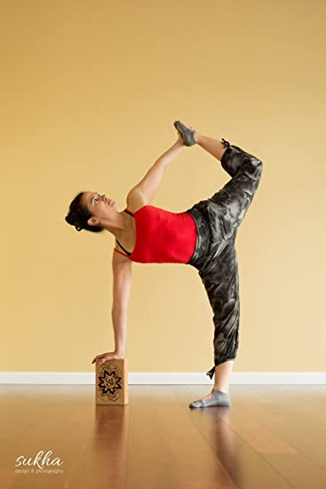 Cork Yoga Blocks | Sustainable Eco-Friendly Yoga Props (OM) | Single Block or Set of Two and Strap