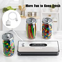 Orfeld Automatic Food Vacuum Sealer Machine with Starter Kit, Dry & Moist Modes, LED Screen Indicator, Compact Vacuum Sealer (Black)