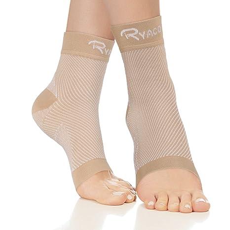 RYACO Kompressionsstrümpfe für Männer & Frauen - Fersensporn Bandage Fußbandage - Schmerzlinderung bei Plantarfasziitis, Knöc