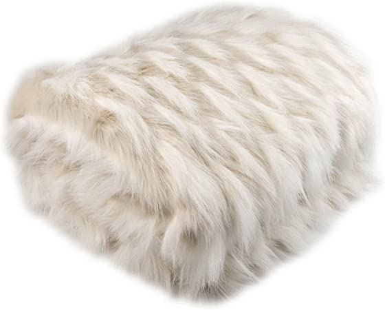 Blanc 200 cm Longs de Chaud Canap/é lit Tapis KAIHONG Couverture Couvre-lit Polaire Super Doux Cheveux 160
