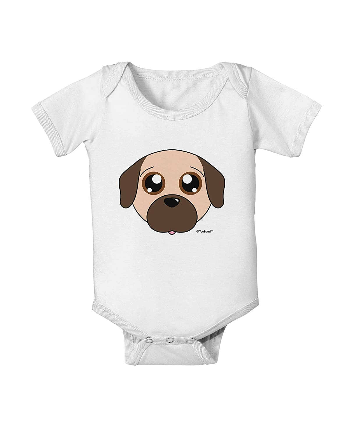 Fawn Baby Romper Bodysuit TooLoud Cute Pug Dog