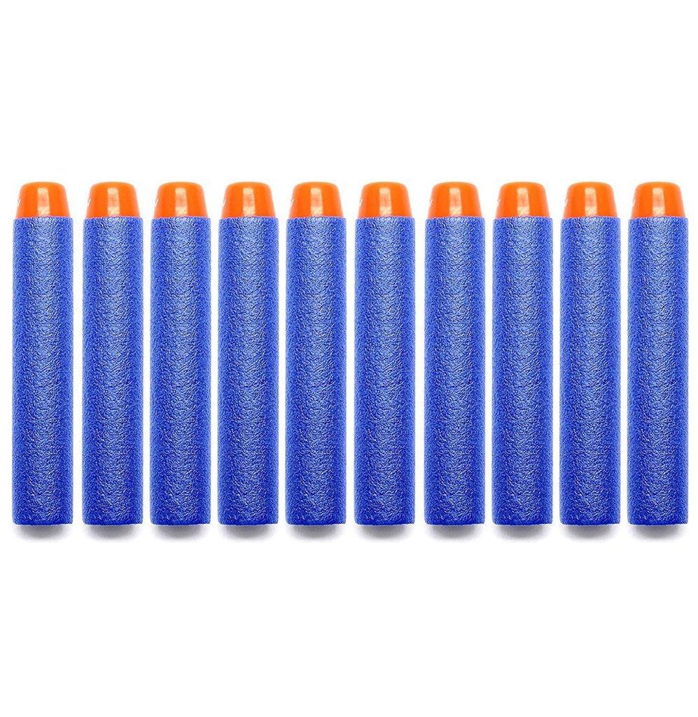 NYKKOLA 100piezas 7, 2cm dardos de espuma azul Refill bala para Nerf N-Strike Elite serie Blasters para objetivo Juegos Deportes al aire libre XGDARTS-100pcs
