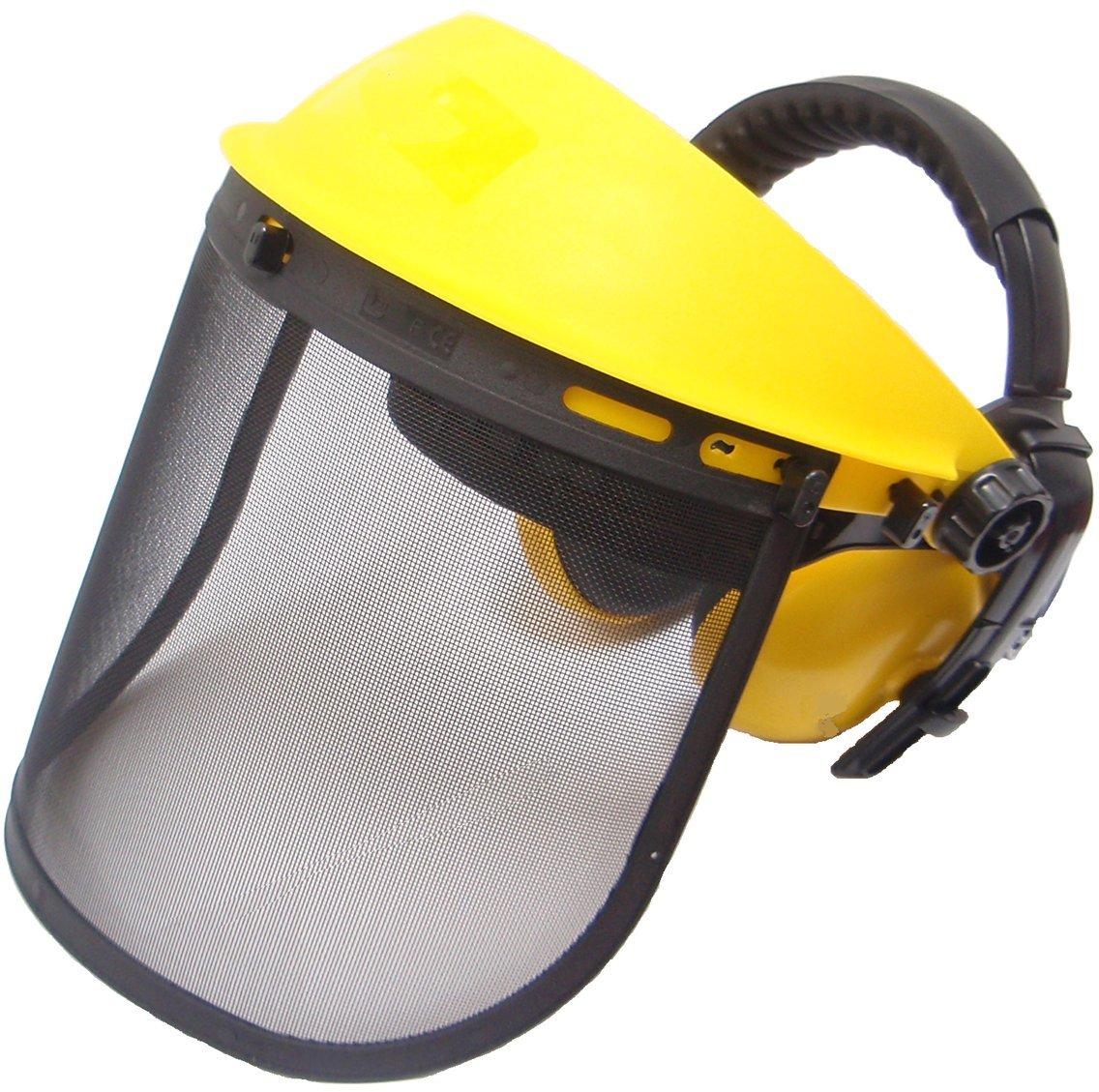 Jasper Browguard Face Shield Mesh Visor with Ear Muffs - ANSI Z87.1 CE EN1731 by Jasper