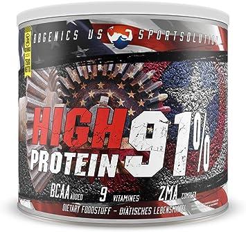 BBGENICS, alto contenido de proteínas del 91 %, menos del 1 % de grasa, 1 % de carbohidratos, proteína en polvo de suero de leche y caseína, no ...