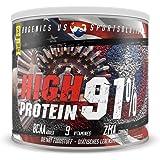 High Protein 91% - sous 1% graisse 1% Carbo, la caséine et de protéines de lactosérum en poudre aspartame, Active Sportsline by BBGenics, 750g vanille