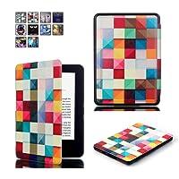 Capa para Kindle Básico da 8a geração - Rígida - Fecho Magnético - Hibernação - Várias Estampas (Geométrica)