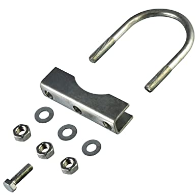 2x Stützradhalterung 70mm Stützradschelle für runde Deichseln Anhänger Schelle