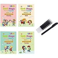 4 Stuks Magic Practice Copybook Digital Engels Letter Kalligrafie Copybook Herbruikbare Schrijven Practice Book Set Kid…