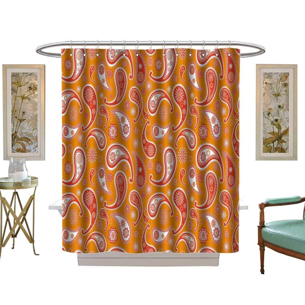 luvoluxhome シャワーカーテン シャワーフック付き ペアの目 手描き サテン生地セット バスルーム W72