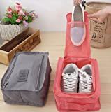 Uniquedealz Nylon Multi-Purpose Waterproof Foldable Travel Shoe Pouch (Multicolour, 420)