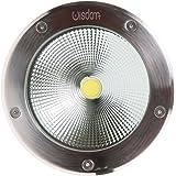 LineteckLED® - E02.004.20C - Faro segnapasso LED 20W da incasso per esterno IP65 impermeabile e calpestabile luce calda 3000K 220V angolo luce 90°
