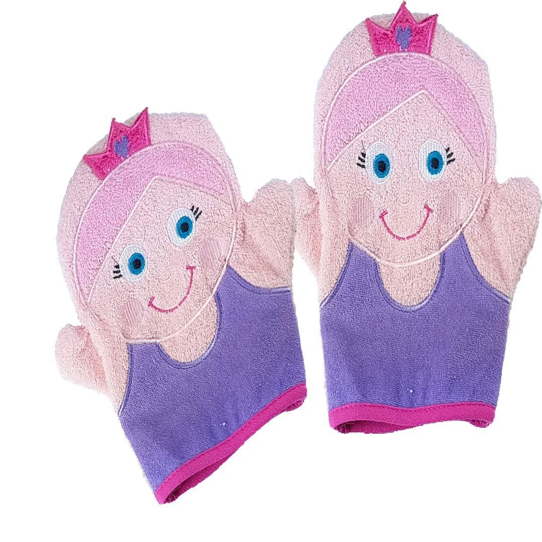 Waschhandschu Waschlappen Puppe 100/% Bauwolle Baby geschenkset 2er pack Owi