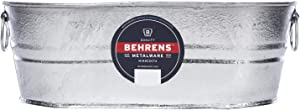 Behrens Hot Dipped Galvanized Steel Oval PlanterTub 4 Gallon