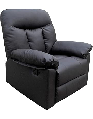 e2a368edb7d Real Leather Reclining Lounge Armchair for Home Cinema   Gaming