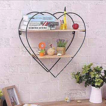 Moderne küchen u-form holz  Moderne kreative runde Eisen und Holz Display Ablage Regal mit ...