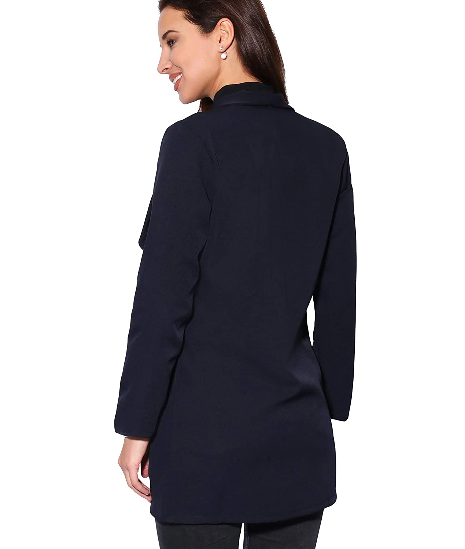 KRISP Damen Eleganter Blazer Anzugjacke Jacke Tailliert Lang und Kurz
