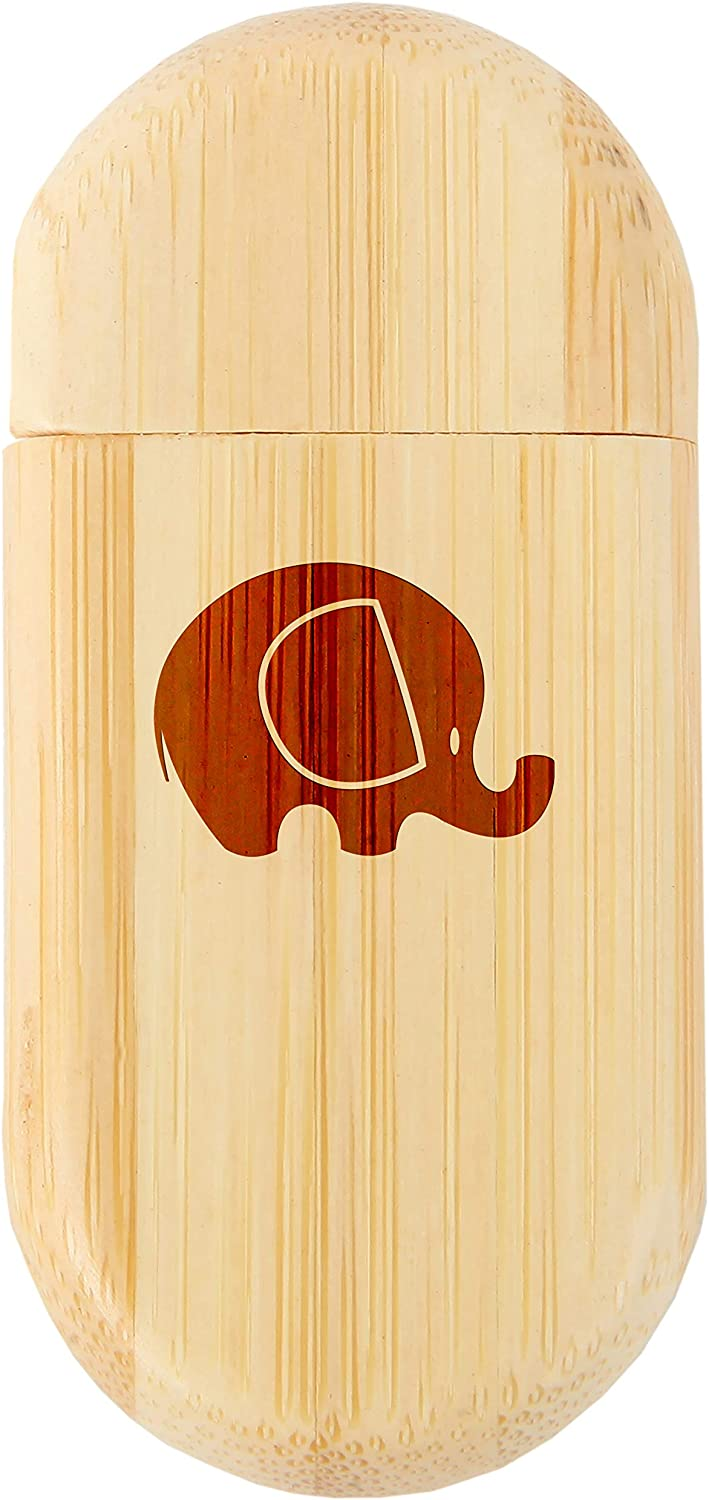 Wood Flash Drive with Laser Engraving 8Gb USB Gift for All Occasions Elephant Head 8Gb Bamboo USB Flash Drive with Rounded Corners