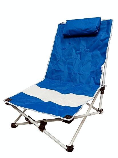 VMI Beach Chair With Pillow, Blue