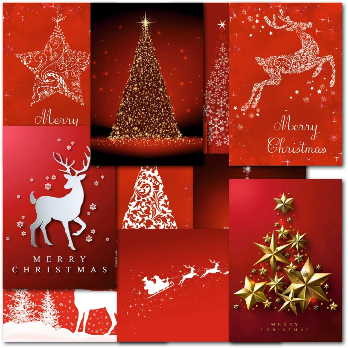Pack Of 30 Mixed Box Contempory Premium Christmas Cards Amazon
