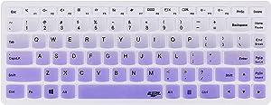 Leze - Ultra Thin Silicone Keyboard Skin Cover for Lenovo Flex 3 14-inch Laptop Semi - Gradual Purple