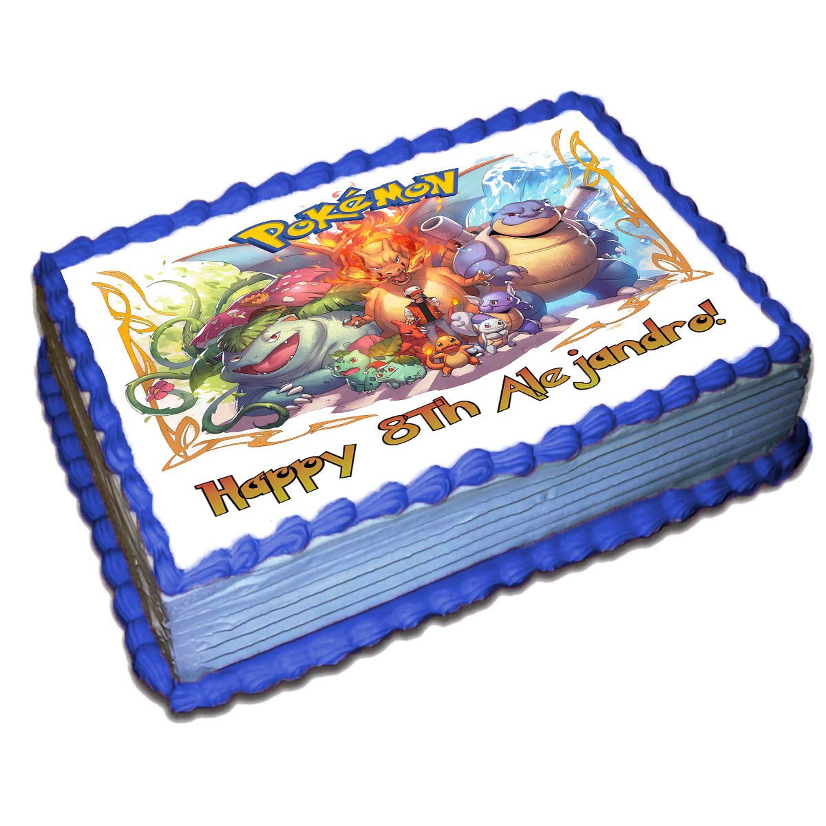 Brilliant Pokemon Personalized Cake Toppers Icing Sugar Paper 8 5 X 11 5 Funny Birthday Cards Online Eattedamsfinfo
